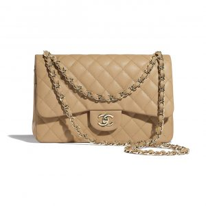 Chanel Beige Jumbo Large Classic Flap Bag
