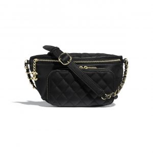 Chanel Black Business Affinity Waist Bag