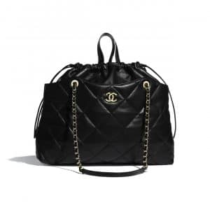 Chanel Black Lambskin Shopping Bag
