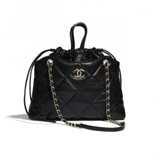 Chanel Black Lambskin Small Shopping Bag