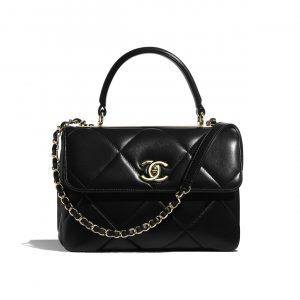 Chanel Black Trendy CC Maxi Small Top Handle Bag