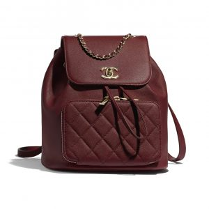 Chanel Burgundy Business Affinity Backpack Bag