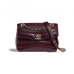 Chanel Burgundy Lambskin Flap Bag