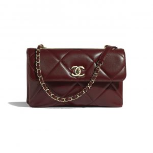 Chanel Burgundy Trendy CC Maxi Flap Bag