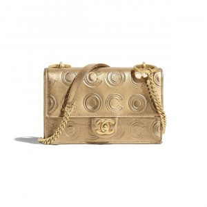 Chanel Gold Metallic Calfskin Flap Bag