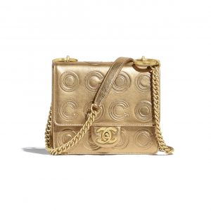 Chanel Gold Metallic Calfskin Mini Flap Bag