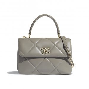Chanel Gray Trendy CC Maxi Small Top Handle Bag