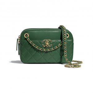 Chanel Green Chain Infinity Camera Case Bag