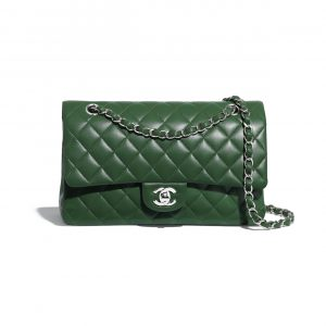 Chanel Green Medium Classic Flap Bag