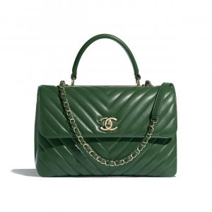 Chanel Green Trendy CC Large Top Handle Bag