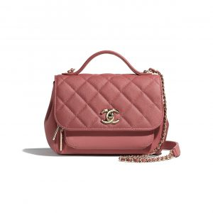 Chanel Pink Business Affinity Top Handle Bag