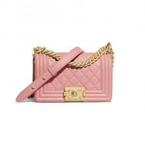 Chanel Pink Small Boy Chanel Flap Bag