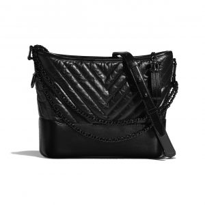 Chanel So Black Gabrielle Hobo Bag