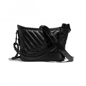 Chanel So Black Gabrielle Small Hobo Bag