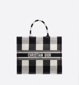 Dior Book Checkered Tote Bag - Black White - Fall 2019