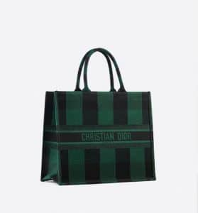 Dior Book Checkered Tote Bag - Hunter Green - Fall 2019