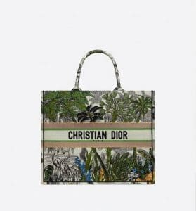 Dior Book Tote Green Palm Trees Bag - Fall 2019