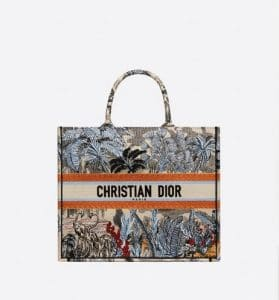 Dior Book Tote Palm Trees Bag - Fall 2019