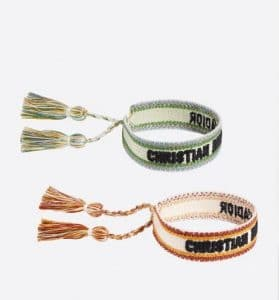 Dior Friendship Bracelets Orange Green - Fall 2019
