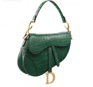 Dior Croco Saddle Bag Fall 2019