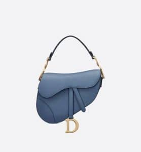 Dior Saddle Denim Blue Medium Bag - Fall 2019