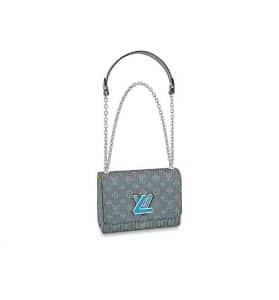 Louis Vuitton Twist MM Blue Bag - Fall 2019