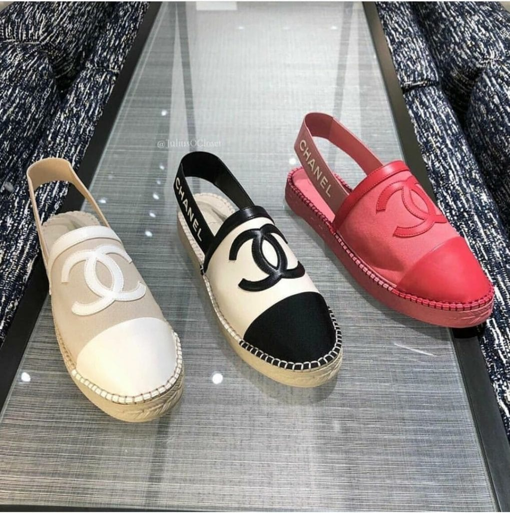 Chanel Espadrilles Slingbacks with Logo