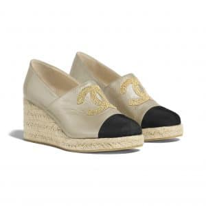 chanel-espadrilles-gold-black-lambskin