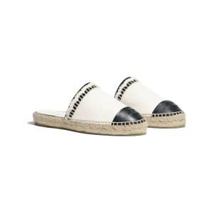 chanel-espadrilles-white-black-slip