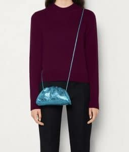 Bottega Veneta Pouch 20 Cross Body - Metallic Blue