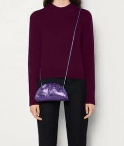 Bottega Veneta Pouch 20 Cross Body - Metallic Purple