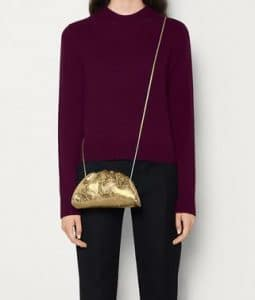 Bottega Veneta Pouch 20 Cross Body - Gold