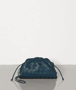 Bottega Veneta Pouch 20 Cross Body - Navy Interraciato