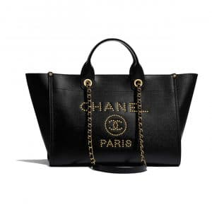 Chanel Black Deauville Large Shopping Bag