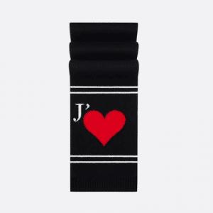Dior Black Dioramour Knit Scarf