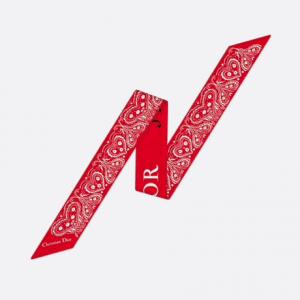 Dior Red Dioramour Mitzah Scarf