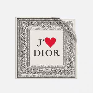 Dior White Dioramour Square Scarf