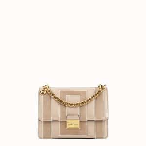Fendi Beige Leather/Suede Kan U Small Bag