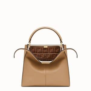 Fendi Beige Peekaboo X-Lite Medium Bag
