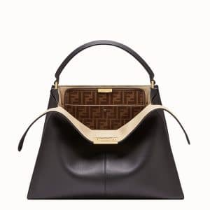 Fendi Black Peekaboo X-Lite Large Bag