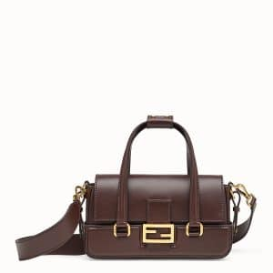 Fendi Brown Baguette Bag with Basket Case