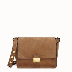 Fendi Brown Suede Kan U Large Bag