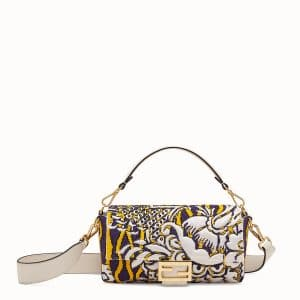 Fendi Multicolor Embroidered and Beaded Baguette Bag