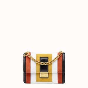 Fendi Multicolore Leather/Suede Kan U Bag