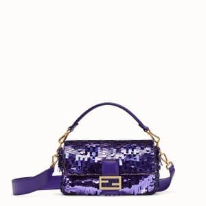 Fendi Purple Sequin Baguette Bag