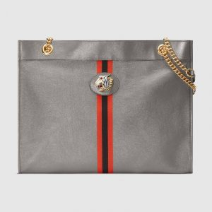 Gucci Dusty Grey Rajah Large Tote Bag