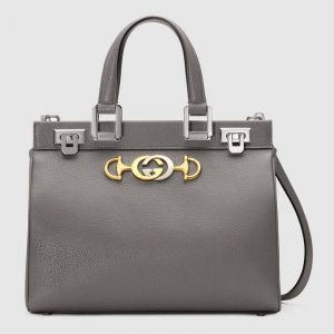 Gucci Dusty Grey Zumi Small Top Handle Bag