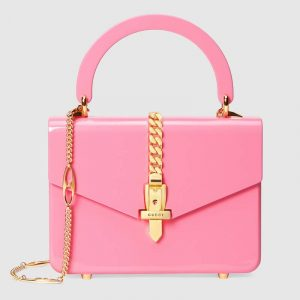 Gucci Fuchsia Plexiglas Sylvie 1969 Mini Top Handle Bag