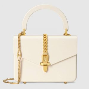 Gucci Ivory Plexiglas Sylvie 1969 Mini Top Handle Bag