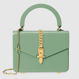 Gucci Sage Green Plexiglas Sylvie 1969 Mini Top Handle Bag-Sylvie-1969-Plexiglas-mini-top-handle-bag